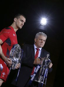 Sam Warburton with Warren Gatland at Six Nations launch