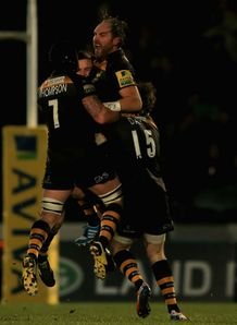 Andy Goode London Wasps celebrate Exeter Chiefs