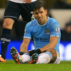 Aguero: Out through injury