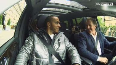 Brundle takes Hamilton for a spin