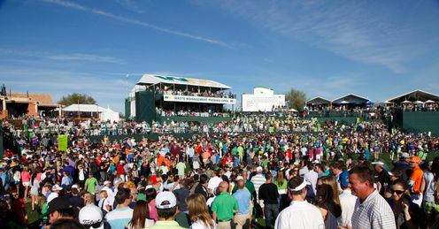 People power: Throngs of fans turn up at the Waste Management Phoenix Open