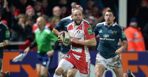Charlie Sharples Gloucester scores Heineken Cup v Munster