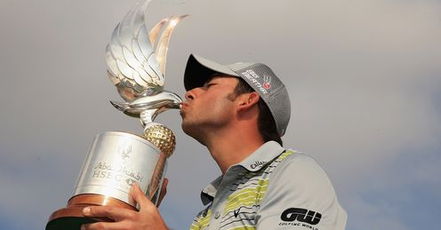 Pablo Larrazabal: Spaniard takes a liking to the Abu Dhabi trophy