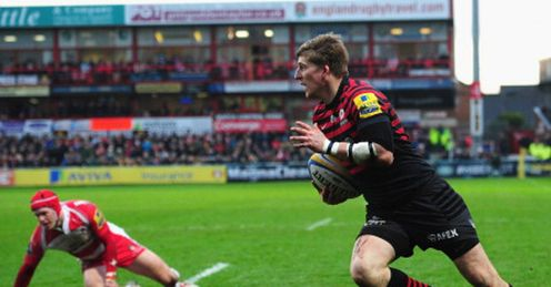 david strettle scores for saracens against gloucester