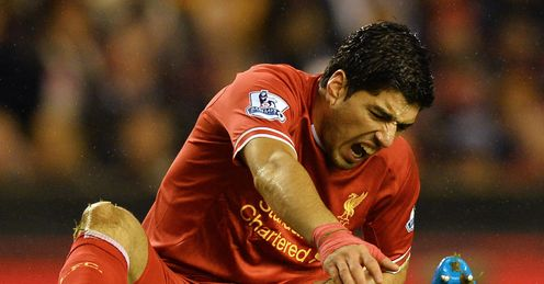 Suarez: was 'clever' to go down, says Neville