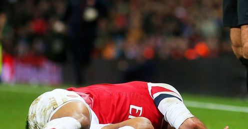 Walcott: injury is a huge blow, says Merson