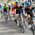 Pete Kennaugh gives it his all on stage one during an impressive team performance
