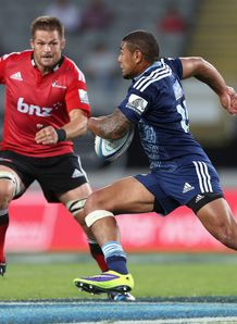 Charlie Piutau in action for the Blues in Super Rugby