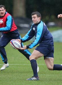 George Ford passing at England training