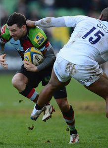 Karl Dickson in action for Harlequins