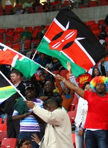 Kenya flag at rugby game