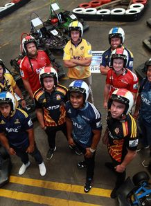 New Zealand Super Rugby launch at Extreme Karts