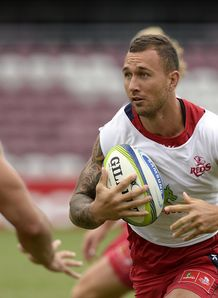 Quade Cooper at Reds training