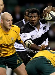 Seru Rabeni of the Barbarians v Australia
