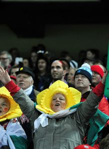 Wales v France - Six Nations: Wales fans cheer
