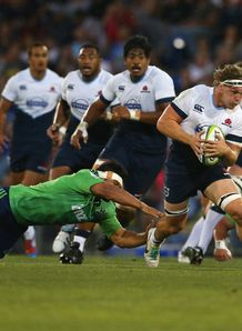 Waratahs flanker Michael Hooper in pre season action