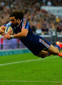 Yoann Huget of France scored 2nd try v England