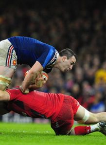dan lydiate chop tackle wales france on louis picamoles six nations