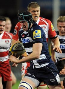 james gaskell powers on for Sale Sharks against Gloucester