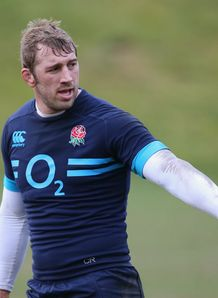 Chris Robshaw England captain training session