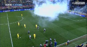 Tear gas disrupts La Liga match