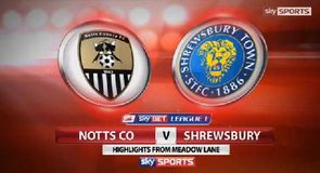 Notts County 2-3 Shrewsbury