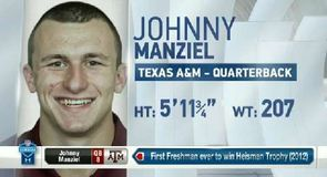 QB Johnny Manziel in focus