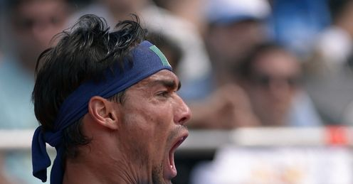 Fog warning: Fognini is a danger on clay, as his two titles on the surface testifies