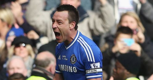 Chelsea v Everton John Terry celebrates