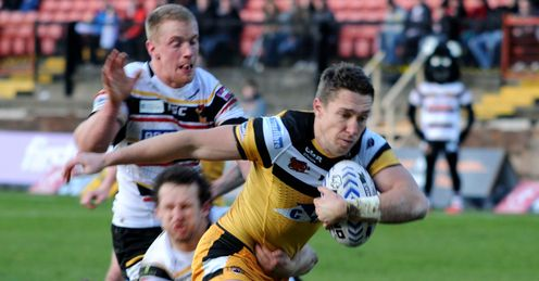 Luke Dorn Castleford Tigers v Bradford Bulls PHOTO CREDIT MELANIE ALLATT