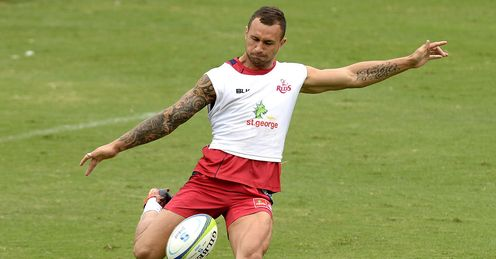 Quade Cooper Reds training 2014
