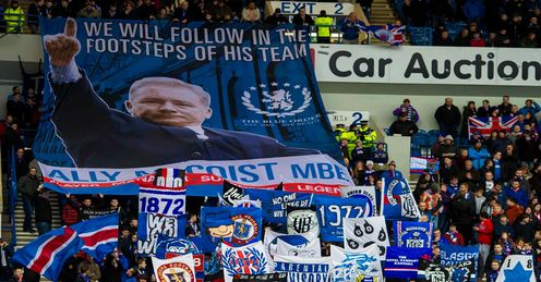 Rangers fan groups back King