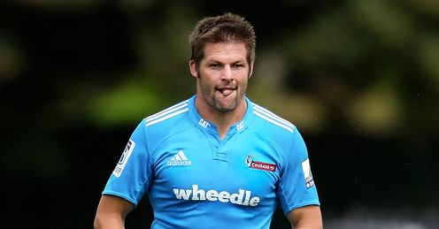 Richie McCaw Crusaders training 2014