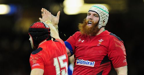 WALES LOCK JAKE BALL GIVING A HIGH FIVE
