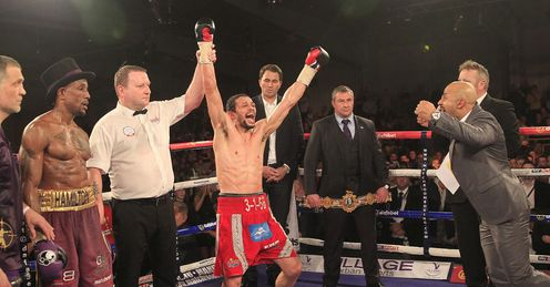 Stunning: Woodhouse's dream comes true to take the British title off Hamilton (� Lawrence Lustig)