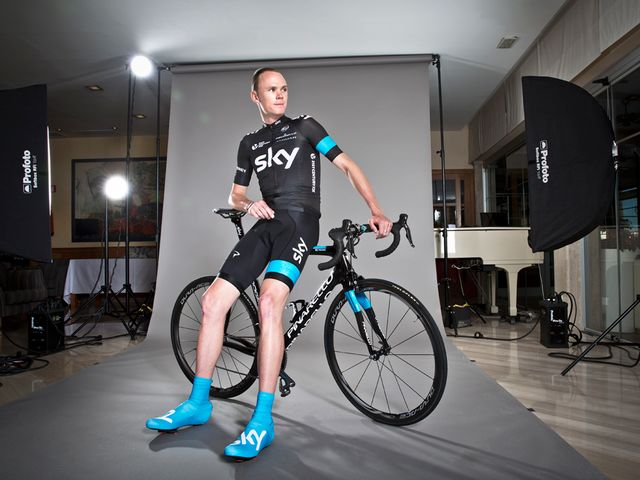 Froome posed for Scott Mitchell in Mallorca before heading to Africa
