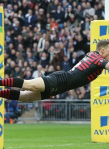 Chris Ashton Saracens v Harlequins Wembley 2014 Premiership