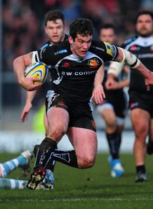 Exeter Chiefs centre Ian Whitten on a run