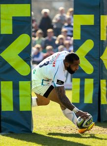 Fetu u Vainikolo scoring for Exeter Chiefs in LV Cup