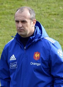 France s head coach Philippe Saint Andre at training 2014
