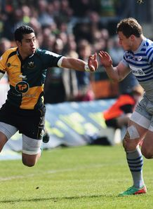 George Pisi of Northampton Saints v Saracens LV Cup Semi Final
