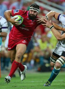 James Hanson of the Reds v Cheetahs SR 2014
