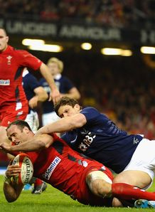 Jamie Roberts Wales try 2014