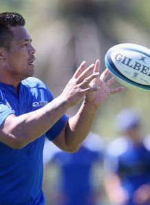 Keven Mealamu Blues training SR 2014