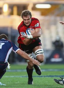 Luke Whitelock of the Crusaders v Rebels