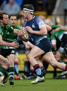 Mark Atkinson in action for Bedford Blues