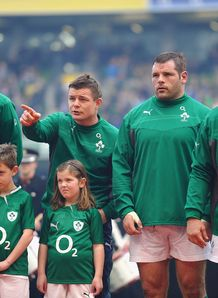 Paul O Connell Brian O Driscoll and Mike Ross for Ireland