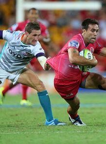 Rod Davies Joohan Goosen Reds v Cheetahs Super Rugby 2014