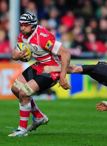 Sione Kalamafoni of Gloucester v Newcastle Falcons