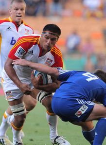Tanerau Latimer taking contact for Chiefs